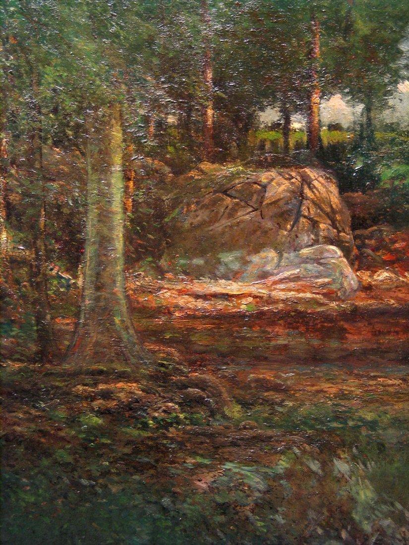 Summer Landscape Rock Creek Valley ca 1930, Oil on