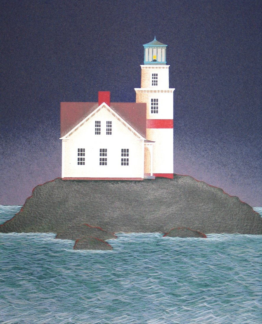 Night Beacon, Serigraph on Paper, signed by Ted