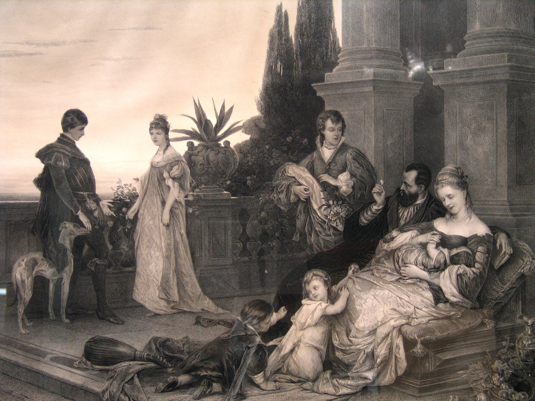 Wealth and Happiness, Etching by Bonheur Au Palais,