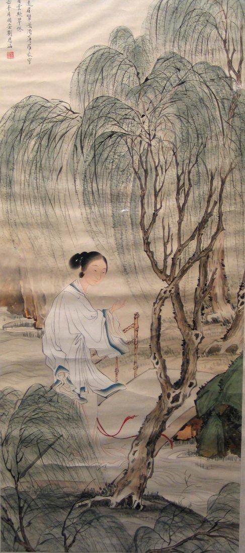 Chinese Water Color Painting on Paper, by Liu En Han.