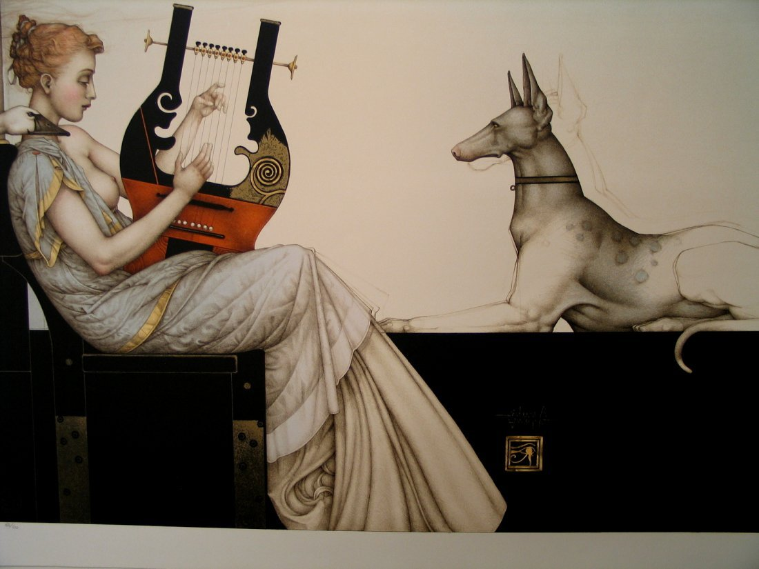 Anubis, by Michael Parkes. Artist signed Limited