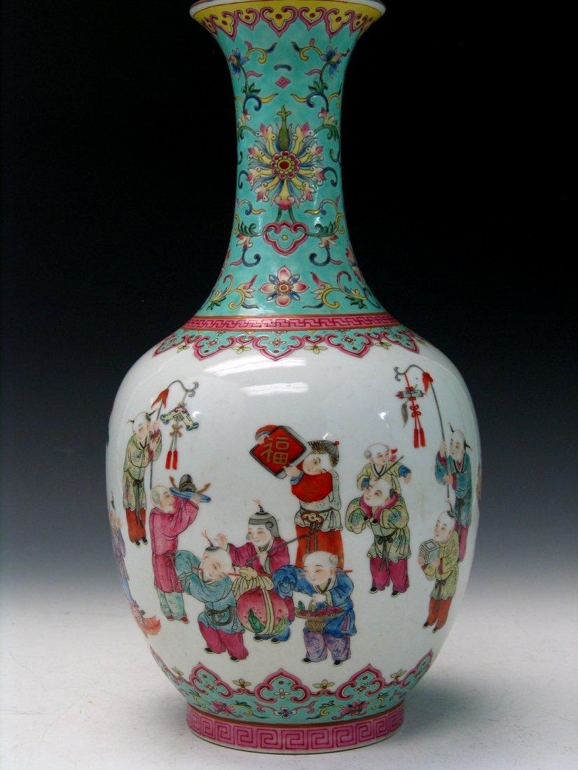 Chinese Famille Rose Porcelain Vase, Daoguang Mark.
