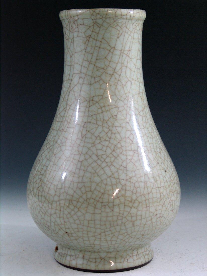 Chinese Ge Ware Porcelain Vase, Yongzheng Mark. - 2