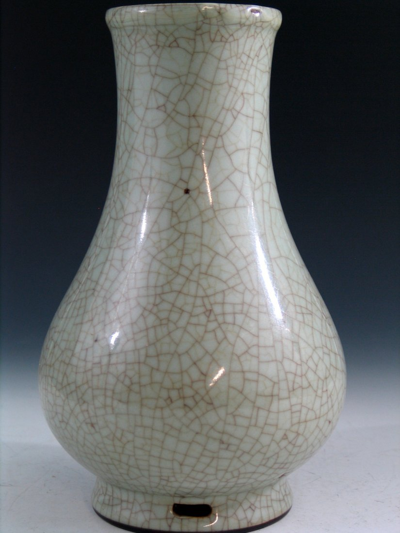 Chinese Ge Ware Porcelain Vase, Yongzheng Mark. - 3