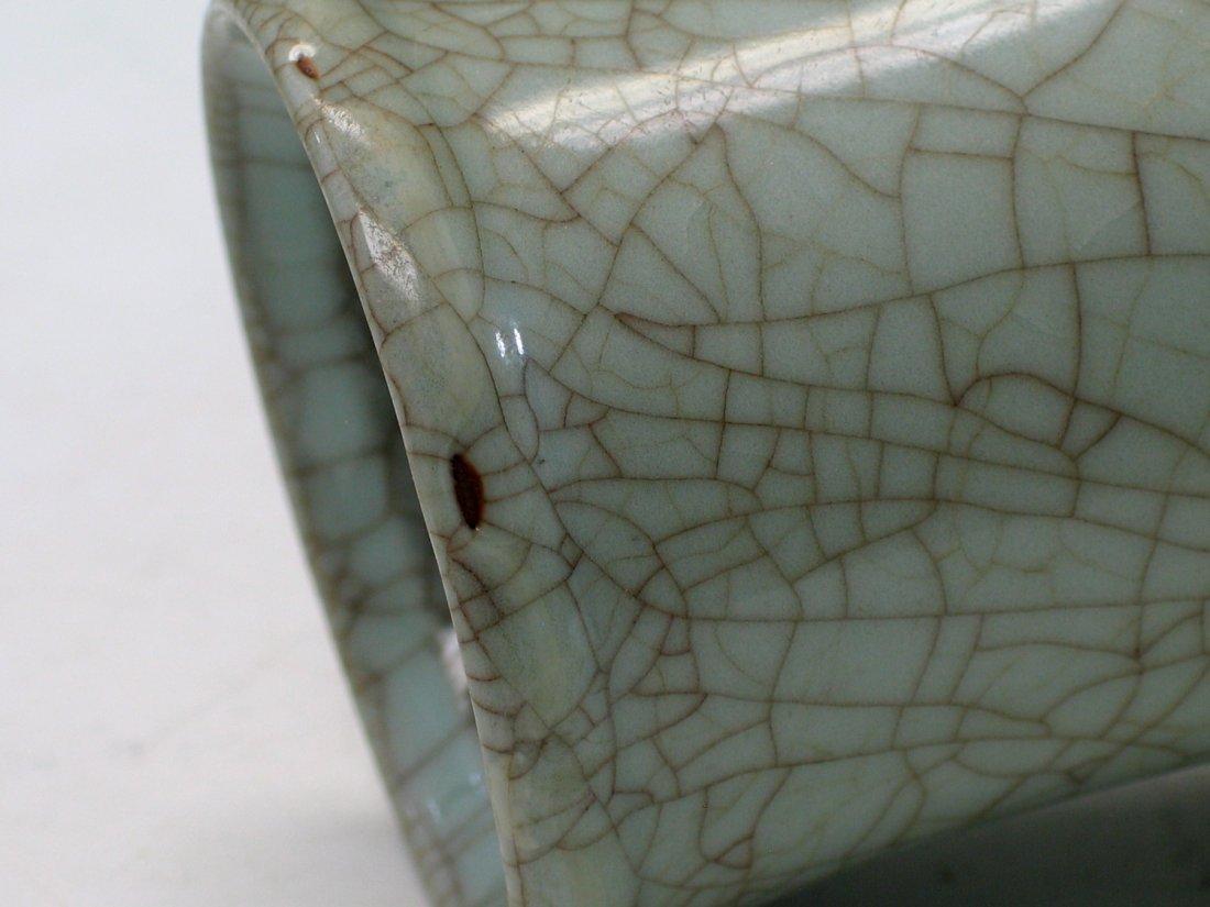 Chinese Ge Ware Porcelain Vase, Yongzheng Mark. - 6