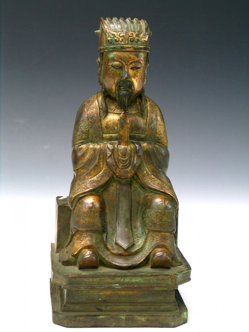 Chinese Gilted Bronze Immortal.