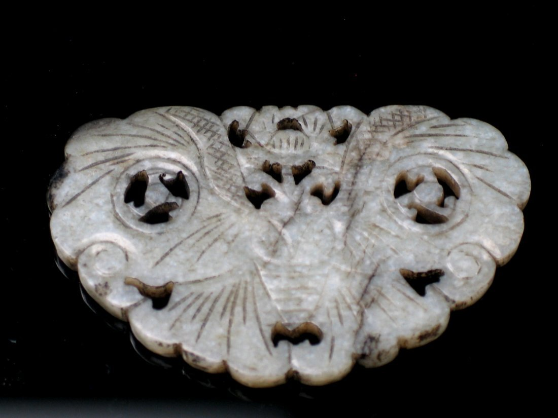 Chinese Butterfly Jade Plaque