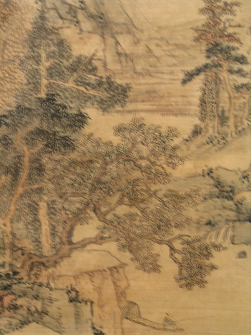 Chinese Water Color Painting on Paper. Attributed to Lu - 4