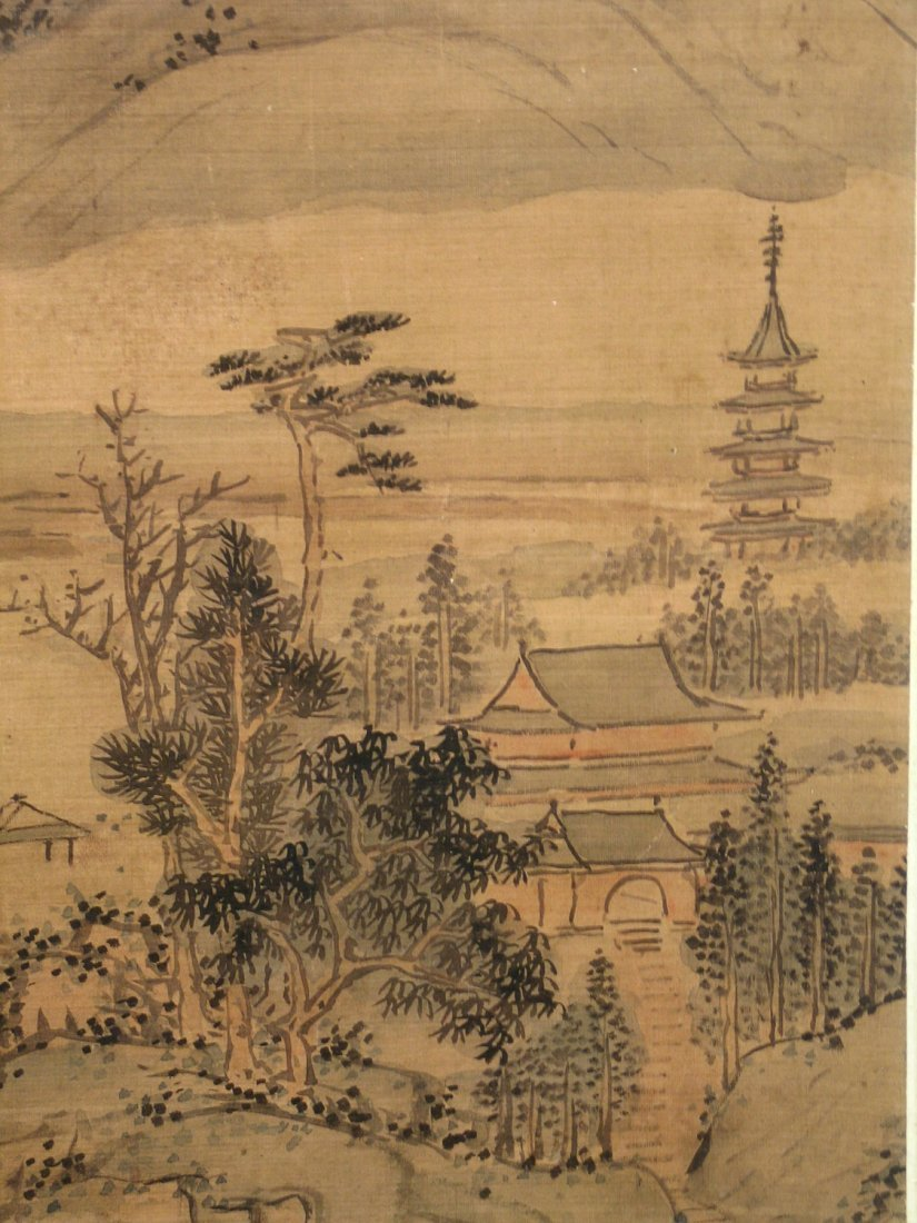 Chinese Water Color Painting on Paper. Attributed to Lu - 5