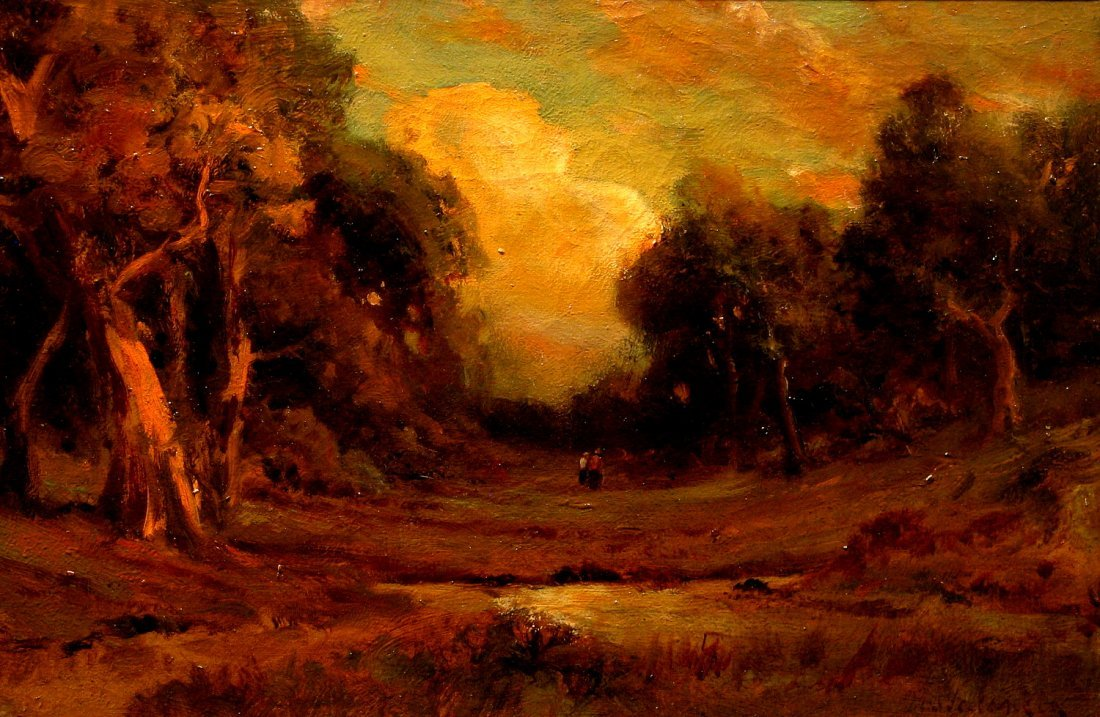 Clearing in the Woods with Two Figures in Original