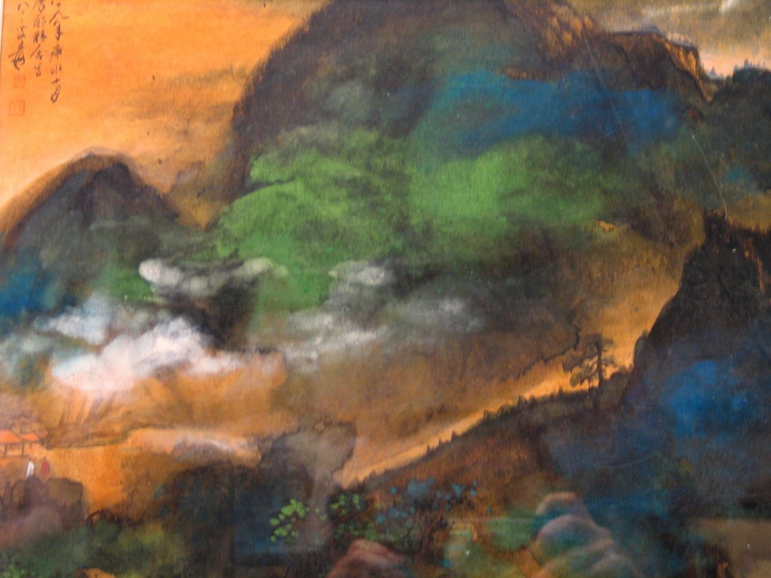 Chinese Water Color Painting, Signed Zhang Daqian.