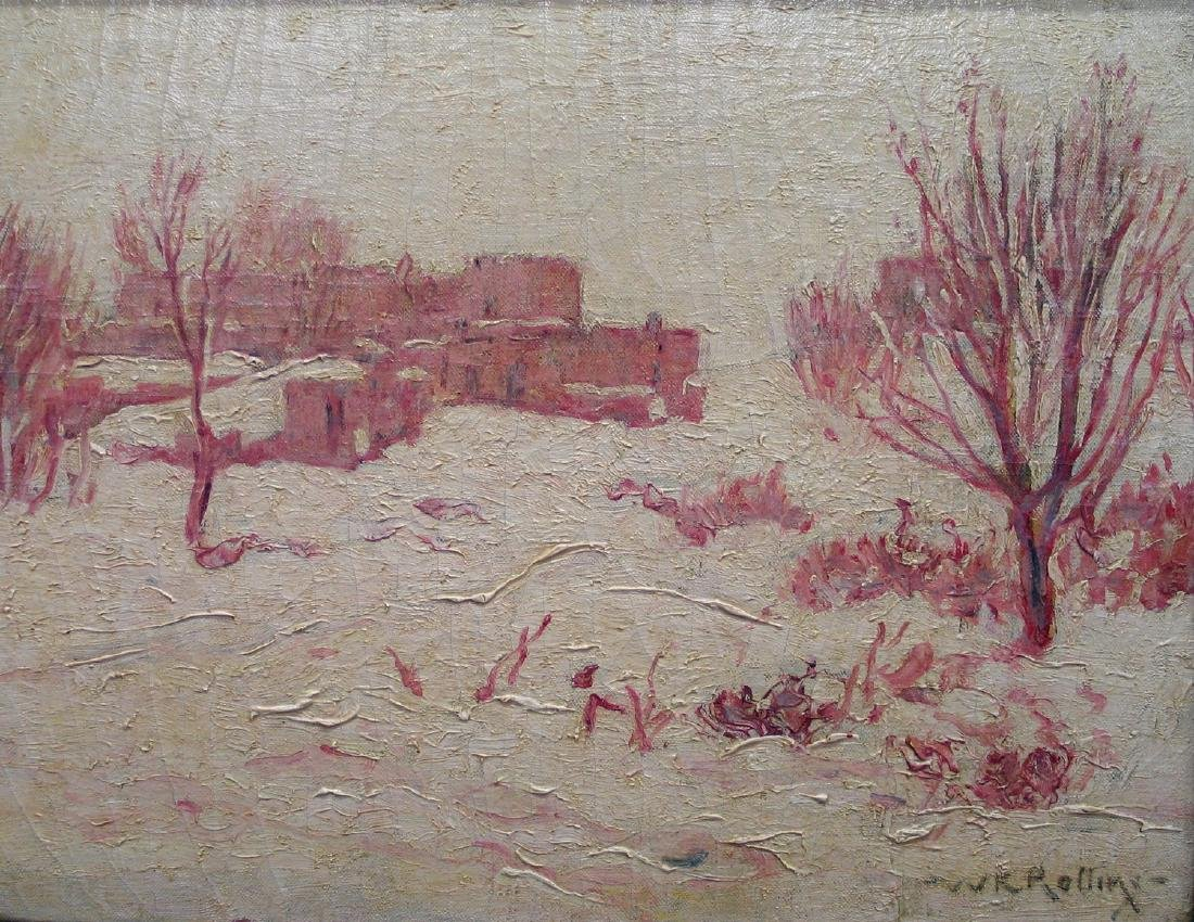 Christmas Eve 1924, Oil on canvas, signed lower right,