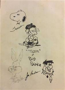 Original Drawingby,cahrles schulz,Friz Frelen,Bud Blade