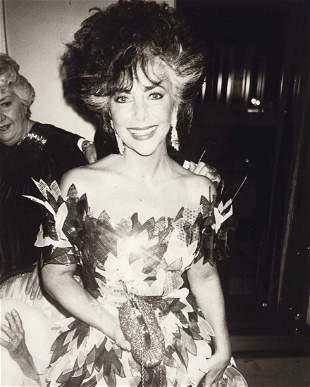 ANDY WARHOL (1928-1987) Elizabeth Taylor Photograph.