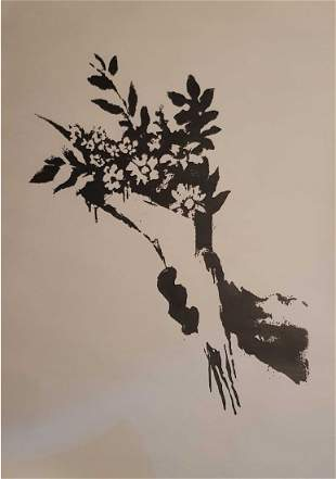Banksy Flower Thrower GDP Screen Print Provenance
