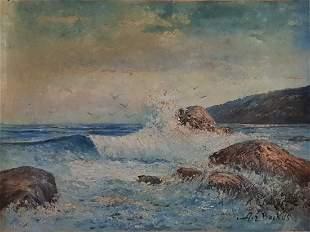Albert Ernest Backus oil on canvas (Beanie)
