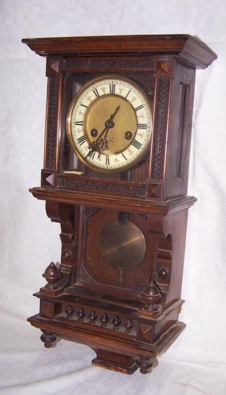 German Walnut Wall Clock