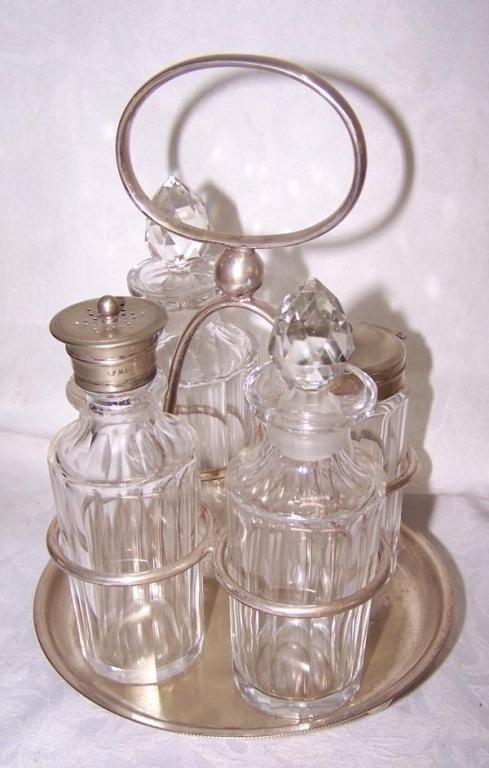 4 Bottle English Castor Set