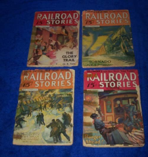 3: Lot of 4 Railroad Stories Magazines