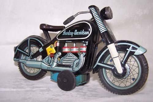 6: 1959 Harley Davidson Tin Motorcycle Japan Toy