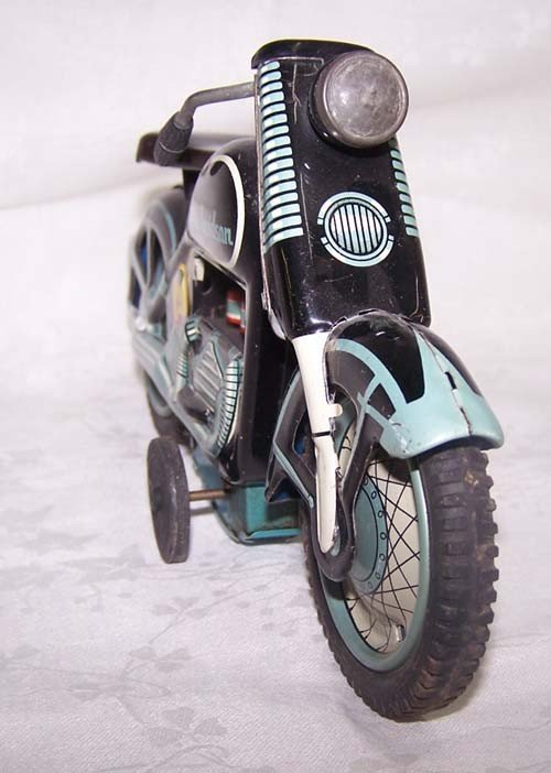 6: 1959 Harley Davidson Tin Motorcycle Japan Toy - 4