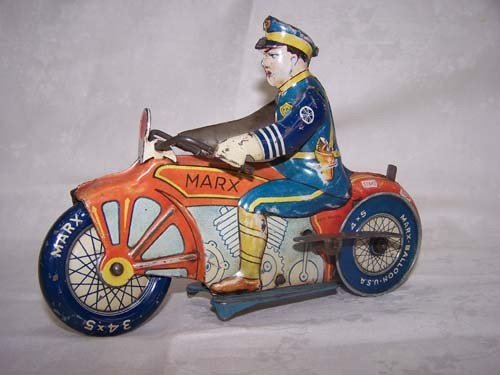 7: Marx Toy Police Motorcycle