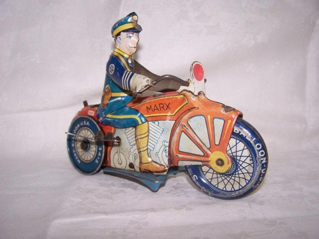 7: Marx Toy Police Motorcycle - 2