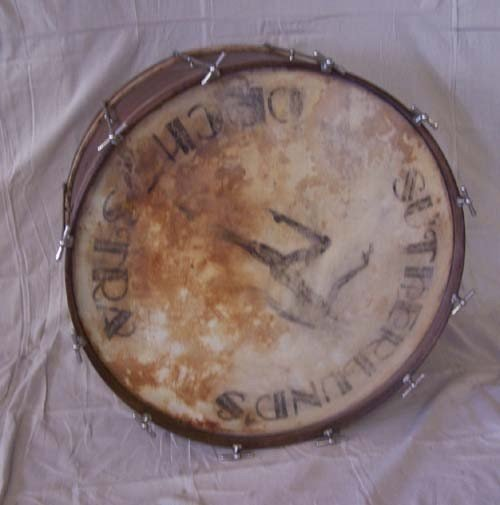 17: Large Drum marked Sutherland`s Orchestra