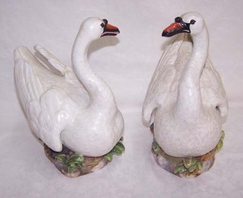 67: Pair of Meissen Swans