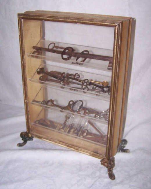 9: Vintage Display Case with Keys