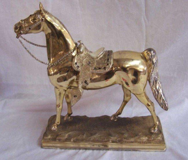 11: Vintage Estes Tarter Gold Horse Statue