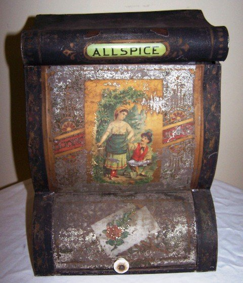 17: Norton Bros Tin Spice Cabinet