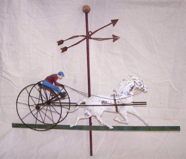 19: Buggy Racing Horse Weathervane