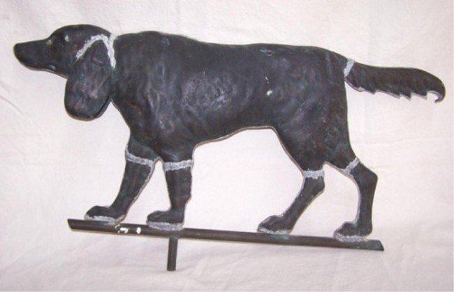 20: Copper Cocker Spaniel Dog Weathervane