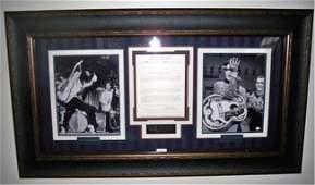 71: Elvis Presley Autograph Memorabilia