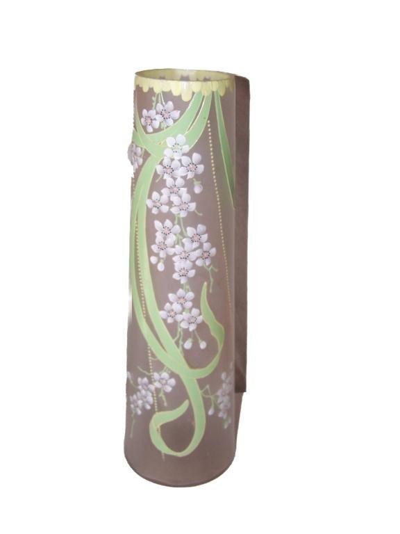 3: Victorian Art Glass Tall Vase