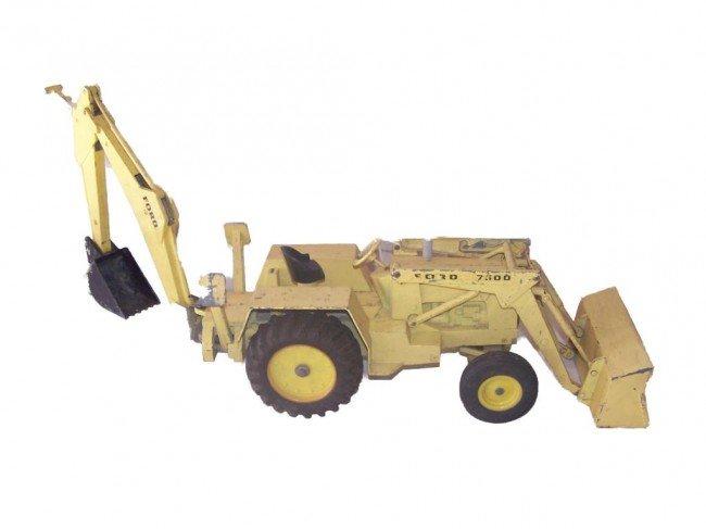6: ERTL GIANT FORD 7500 Tractor Loader Backhoe