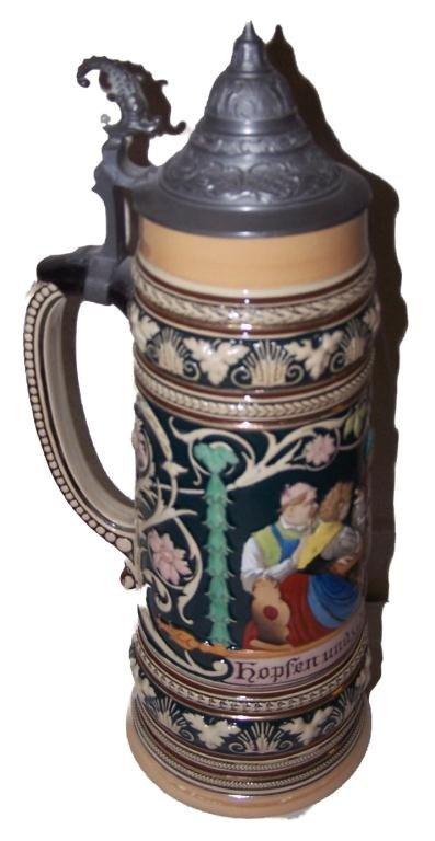 18: German beer Stein 2 Liter