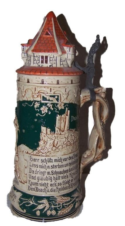 19: German Beer Stein 1/2 Liter