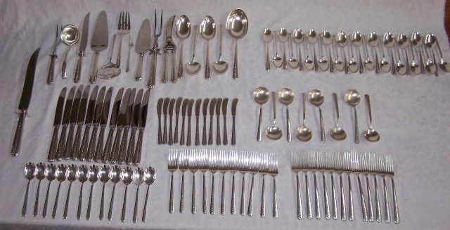 "94: ""Rambler Rose"" by Towle Sterling Silver Flatware"