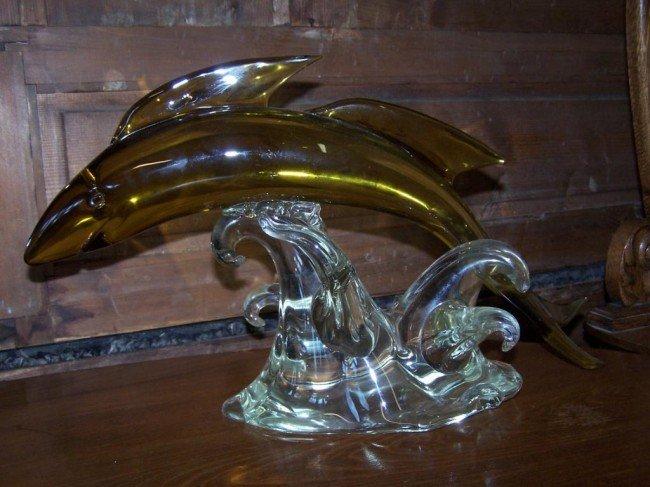 2: Glass Morano Dolphin