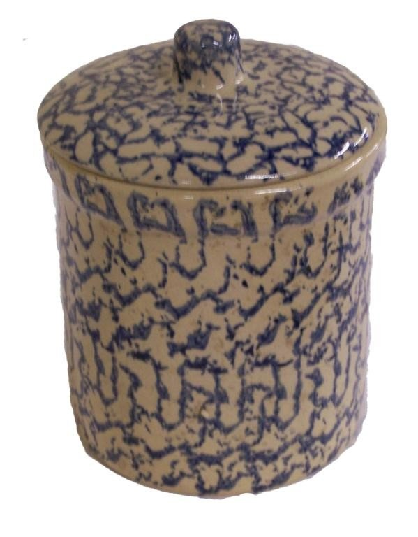 13: Sponge Ware Jar with Lid