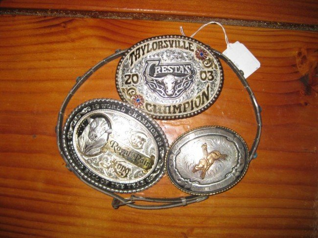 10A: 3 Belt Buckles, 1 Hat Band