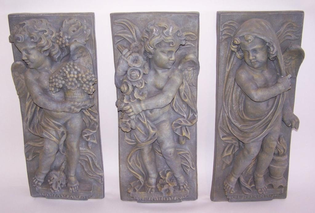 11: 3 Ornate Wall Plaques
