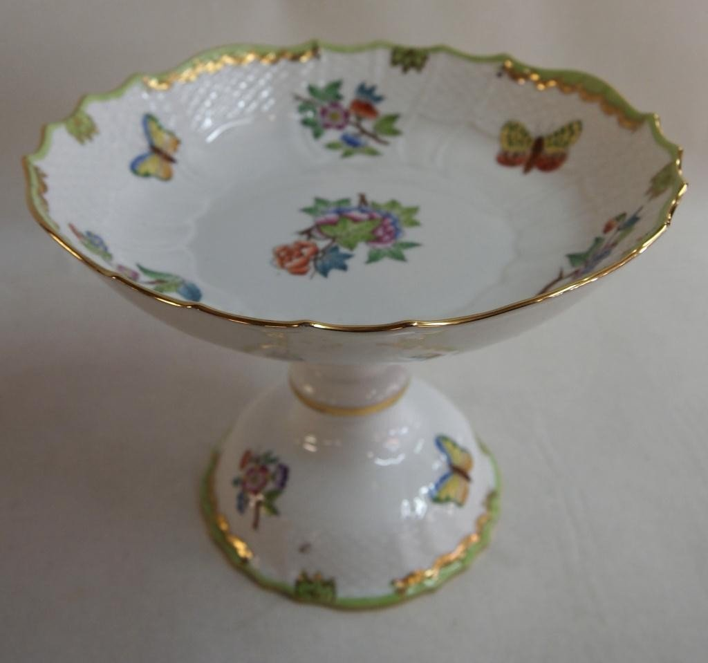 16: Herend Porcelain Hand Painted Compote