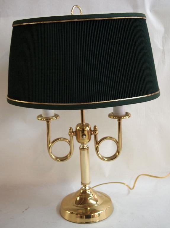 18: Ornate Brass Table Lamp