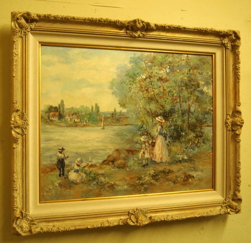 211: Oil on Canvas Painting - Signed  Kent