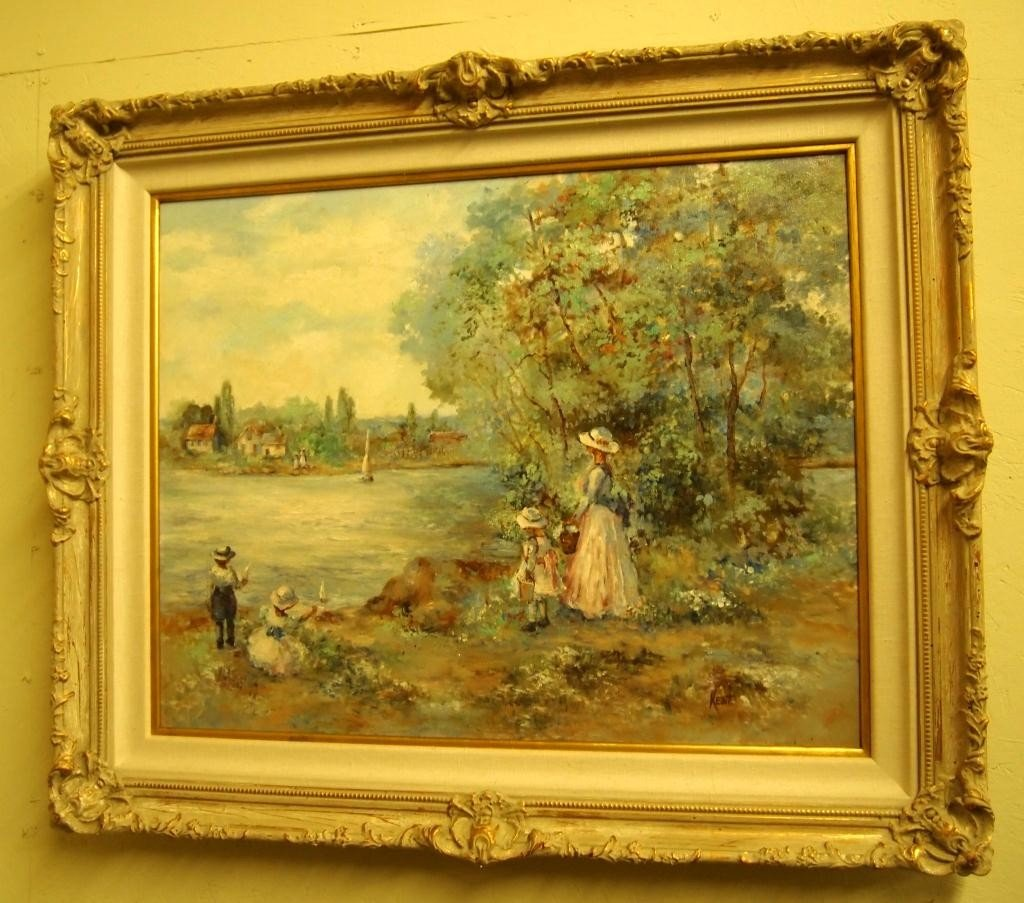 211: Oil on Canvas Painting - Signed  Kent - 2