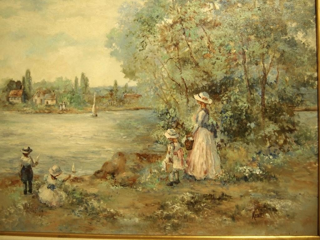 211: Oil on Canvas Painting - Signed  Kent - 3