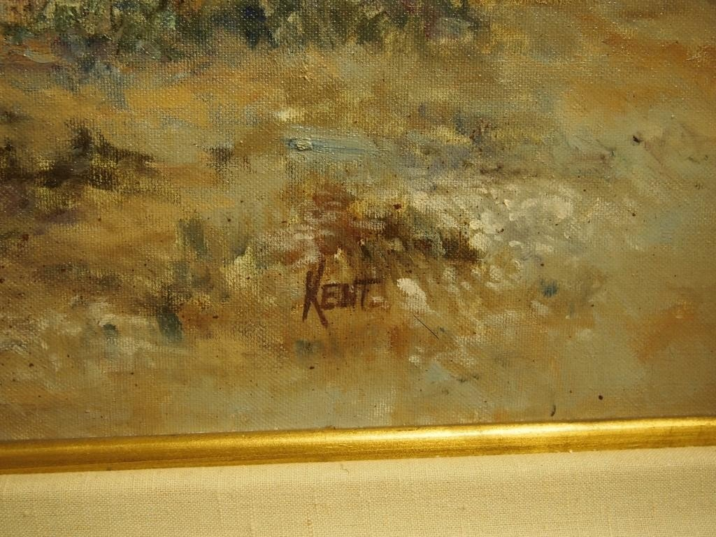 211: Oil on Canvas Painting - Signed  Kent - 4